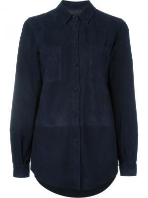 Классическая рубашка Drome. Цвет: синий