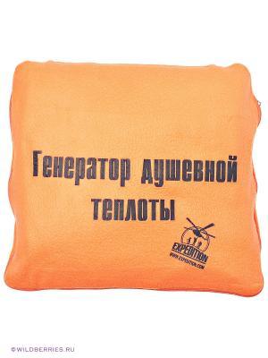Плед-подушка Экспедиция. Цвет: оранжевый (осн.)