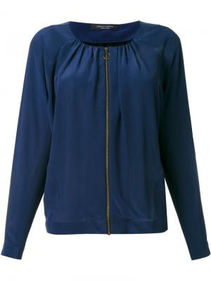 Куртка на молни Roberto Collina. Цвет: синий