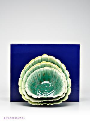 Набор салатников Pavone. Цвет: зеленый