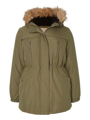 Куртка JUNAROSE. Цвет: хаки