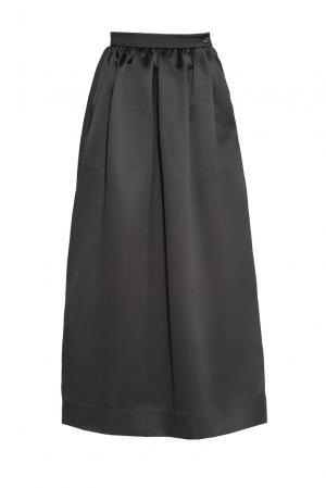 Юбка из искусственного шелка 173136 Cyrille Gassiline. Цвет: черный