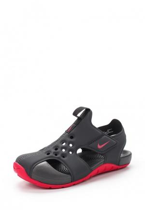 Сандалии Nike. Цвет: серый