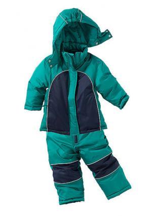 Зимний костюм, 2 части. Цвет: синий, синий/оранжевый, цвет баклажана/дымчато-розовый