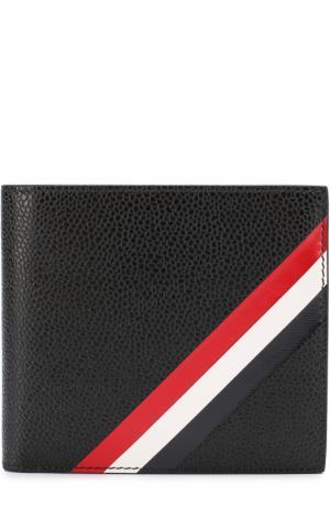 Кожаное портмоне с отделениями для кредитных карт Thom Browne. Цвет: черный