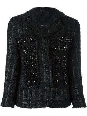 Декорированный твидовый жакет Simone Rocha. Цвет: чёрный