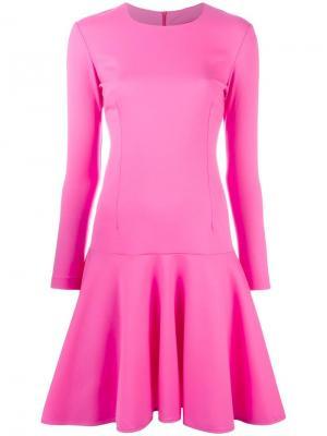 Расклешенное платье с длинными рукавами Ultràchic. Цвет: розовый и фиолетовый