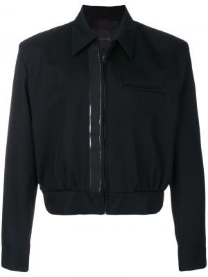 Укороченная куртка на молнии Mackintosh 0001. Цвет: чёрный