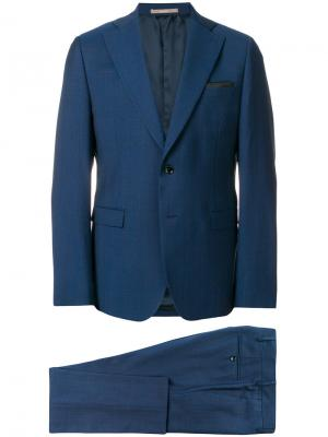 Строгий костюм-двойка Paoloni. Цвет: синий