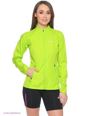 Куртка Woven Jacket ASICS. Цвет: зеленый