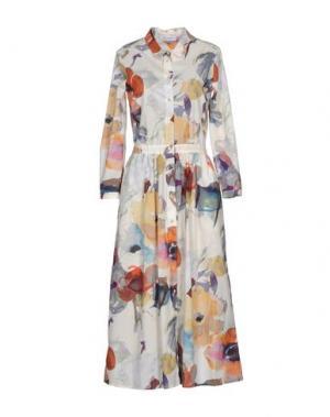 Платье длиной 3/4 AGLINI. Цвет: слоновая кость