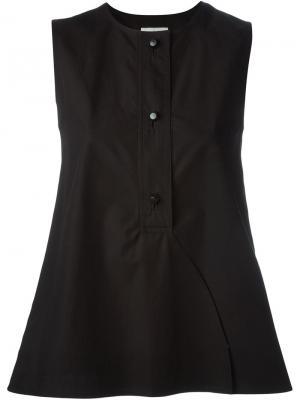 Блузка без рукавов Lemaire. Цвет: чёрный