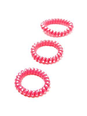 Резинка-браслет для волос Mitya Veselkov. Цвет: розовый, белый
