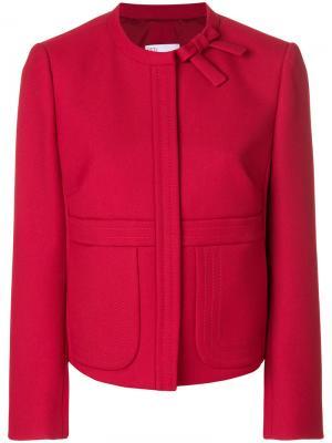 Укороченный пиджак с бантом Red Valentino. Цвет: красный