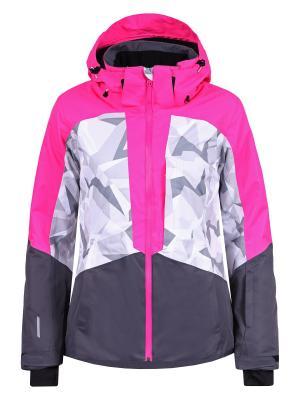 Куртка Icepeak. Цвет: темно-серый, белый, розовый