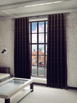 Готовая штора SANPA HOME COLLECTION. Цвет: коричневый