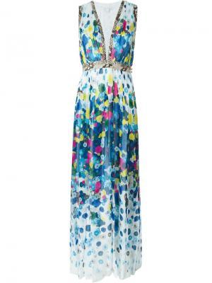 Платье с лоскутным принтом Diane Von Furstenberg. Цвет: белый