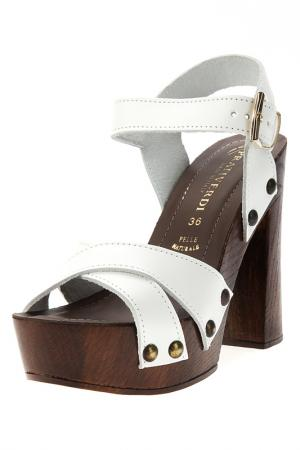 Heeled sandals PRATIVERDI. Цвет: white