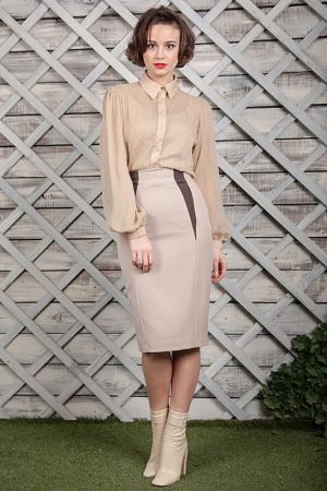 Блуза LuAnn. Цвет: бежевый