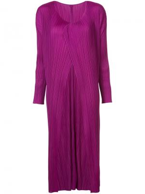 Плиссированная накидка Pleats Please By Issey Miyake. Цвет: розовый и фиолетовый
