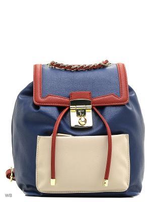 Рюкзак Trussardi. Цвет: синий, бежевый, красный