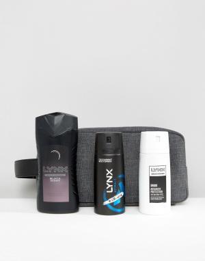Lynx Подарочный набор в черном несессере. Цвет: мульти