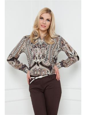 Блузка Vis-a-vis. Цвет: коричневый