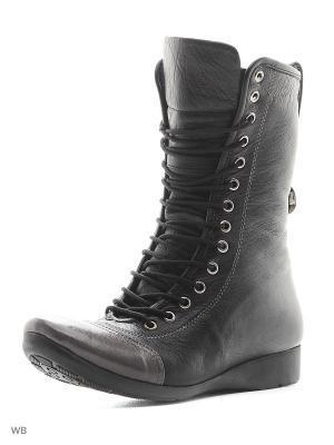 Ботинки Sattini. Цвет: черный, серо-коричневый