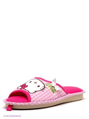 Тапочки De Fonseca. Цвет: розовый, белый, малиновый