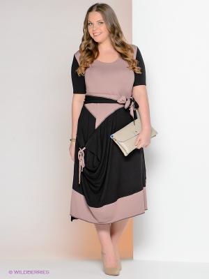 Платье МадаМ Т. Цвет: черный, бежевый