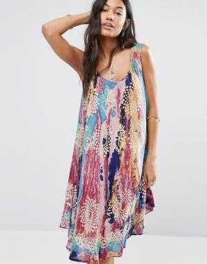 Anmol Пляжное платье с зонтиками. Цвет: мульти