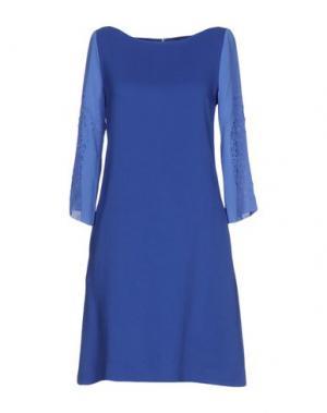 Короткое платье GIO' GUERRERI. Цвет: синий