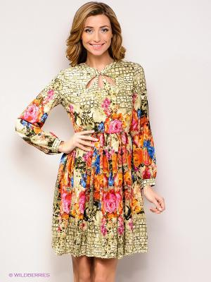 Платье FRENCH HINT. Цвет: розовый