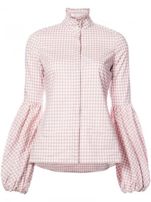 Клетчатая рубашка Caroline Constas. Цвет: розовый и фиолетовый