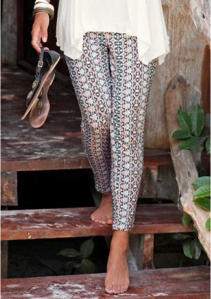 Пляжные брюки Lascana. Цвет: пастельный с рисунком