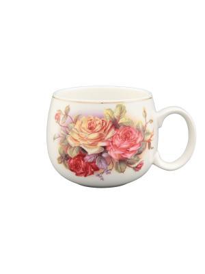 Кружка Цветочная карусель Elan Gallery. Цвет: розовый, белый, зеленый