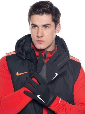 Перчатки спортивные Nike. Цвет: черный
