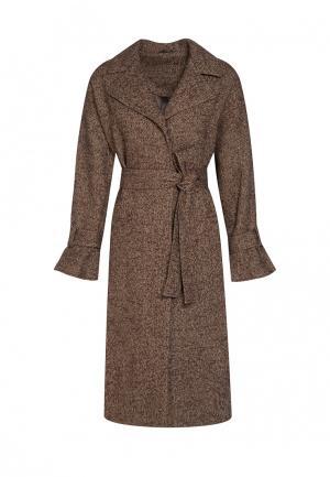 Пальто Uona. Цвет: коричневый