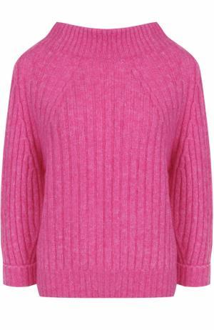 Свитер фактурной вязки с укороченным рукавом 3.1 Phillip Lim. Цвет: розовый