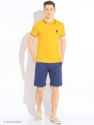 Футболка-поло U.S. Polo Assn.. Цвет: оранжевый