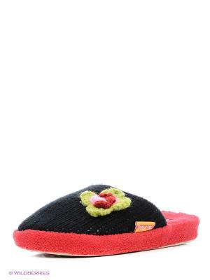 Тапочки Dream Feet. Цвет: черный, красный