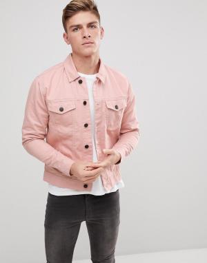 Only & Sons Джинсовая куртка. Цвет: розовый