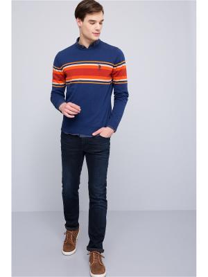 Джемпер U.S. Polo Assn.. Цвет: темно-синий, красный, оранжевый