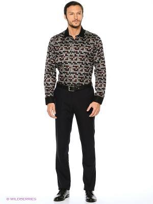 Рубашка KARFLORENS. Цвет: серо-коричневый