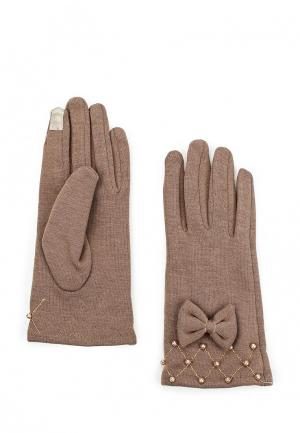 Перчатки Pur. Цвет: бежевый