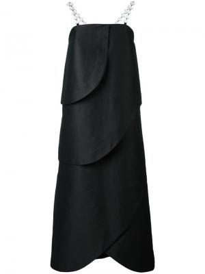 Длинное платье без бретелек Isa Arfen. Цвет: чёрный