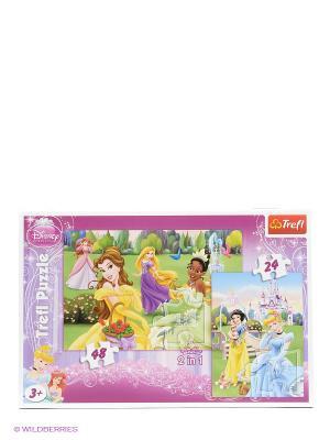 Набор 2 в 1 Прекрасные Принцессы Trefl. Цвет: розовый