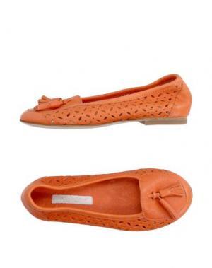 Мокасины DOLCE & GABBANA. Цвет: оранжевый