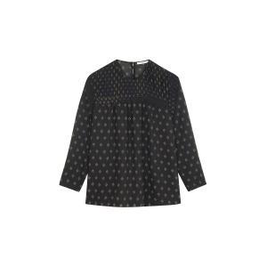 Блузка с плиссированным эффектом JGARAGE SESSUN. Цвет: черный