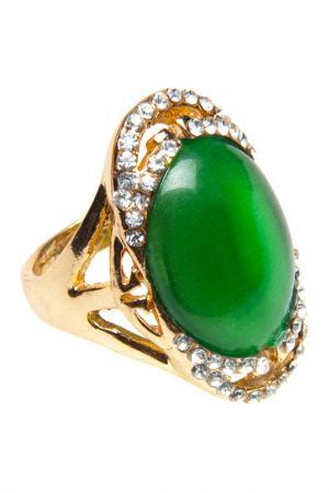 Кольцо BELLA ROSA. Цвет: green, gold